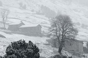Paisaje de la Vall d'Incles nevada (Salva Solé)