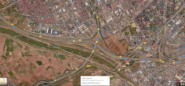 Censo Llobregat domingo 18 de septiembre 2016, itinerario Bellvitge