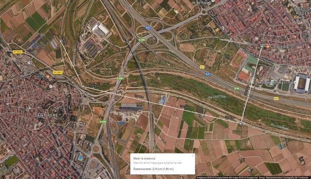 Censo Llobregat domingo 18 de septiembre 2016, itinerario Cornella
