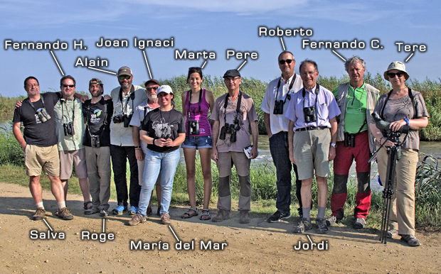 Asistentes a la salida del Delta del Ebro - Grupo Local SEO Barcelona septiembre 2016