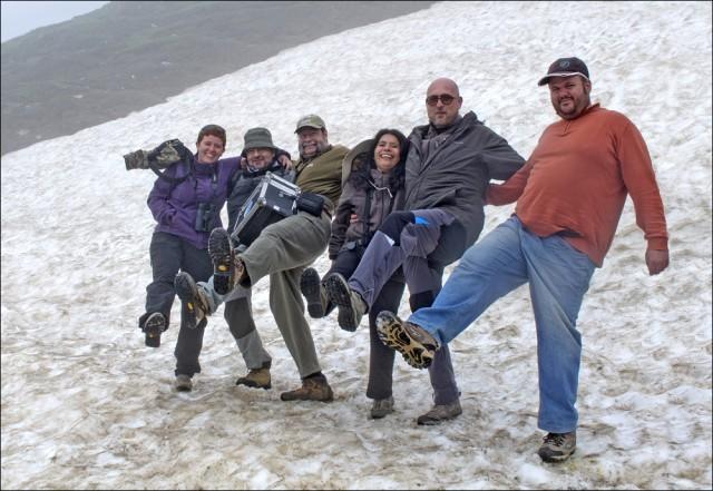 Pisamos nieve en el Port de la Bonaigua
