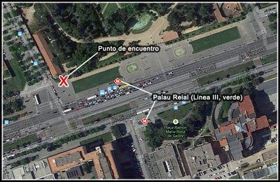 Mapa Punto de encuentro GL en Palau Reial