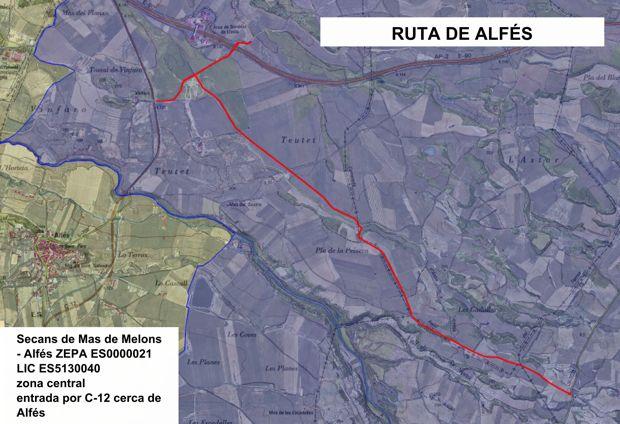 Grupo Local SEO Barcelona, rutas por los secanos de LLeida - ruta 2: Secans de Alfés - Mas de Melons (zona Alfés)