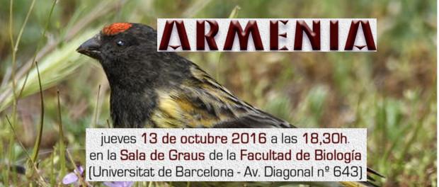 Viaje ornitológico a Armenia - jueves 13 de octubre 2016 a las 18:30