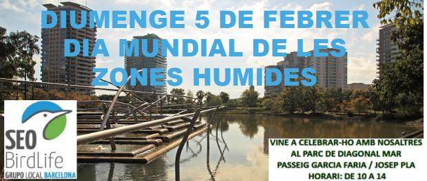 Día Mundial de los Humedales- 5 de febrero 2017 - Grupo Local SEO Barcelona - Parque Diagonal Mar