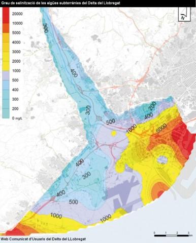 El Delta del Llobregat: el acuífero la pieza clave - el delta a vista de pájaro