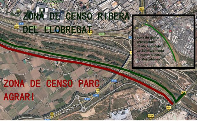 Mapa del censo de la ribera de llobregat - Grupo Local SEO Barcelona - diciembre 2013