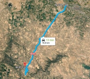 Maestrazgo 2015 – Grupo Local SEO Barcelona – ruta de Caspe al vertedero de Alcañiz